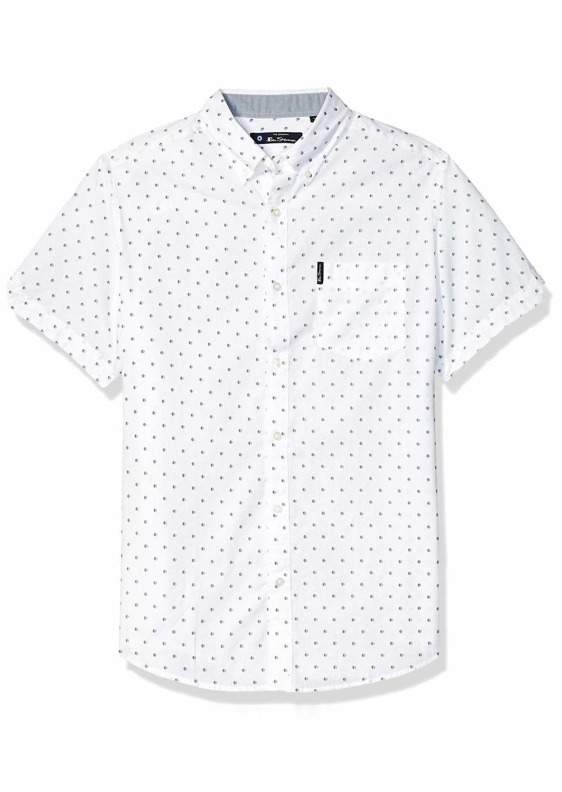 Ben Sherman Men's SS SPT Stripe Print Shirt  S