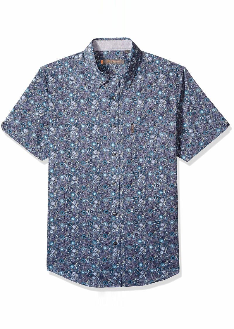 Ben Sherman Men's SS Tonal FLRL Print Shirt  M