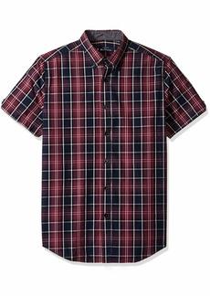 Ben Sherman Men's SS Tonal Plaid Shirt  S
