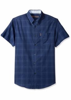 Ben Sherman Men's SS TONL Ombre Plaid Shirt  S