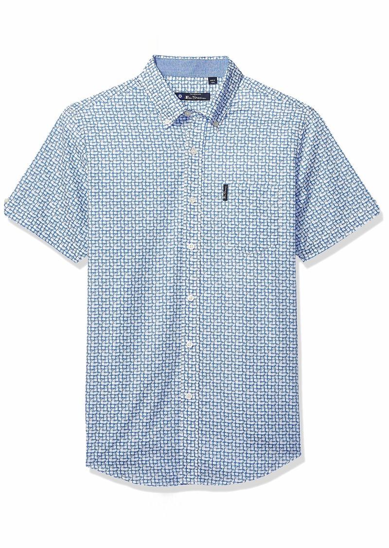 Ben Sherman Men's SS Weave PRNT Shirt  M