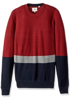 Ben Sherman Men's Textured Color Block Crew Neck  XXL
