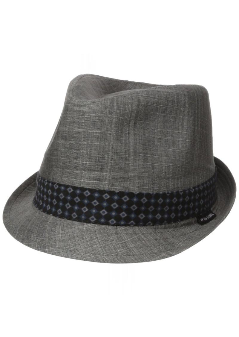 Ben Sherman Men's Textured Linen Fedora Hat  L-XL
