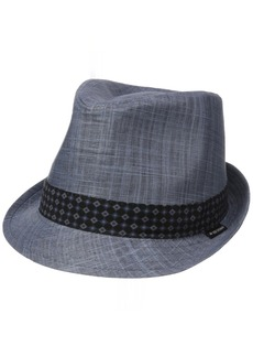Ben Sherman Men's Textured Linen Fedora Hat  L-XL