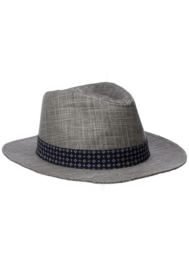 Ben Sherman Ben Sherman Men s Textured Linen Trilby Hat S-M  d43b5e5e8875