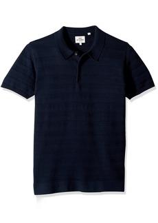 Ben Sherman Men's Textured Stripe Knit Polo  XXL
