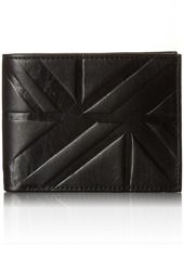 Ben Sherman Men's Woodside Park Full Grain Cowhide Leather Traveler Passcase Wallet with RFID Blocking Protection black One Size