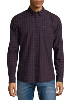 Ben Sherman Plaid Cotton Button-Down Shirt