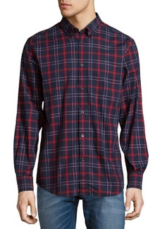 Ben Sherman Plaid Cotton Casual Button Down Shirt