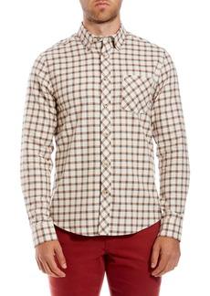 Ben Sherman Reverse Twill Trim Fit Check Sport Shirt