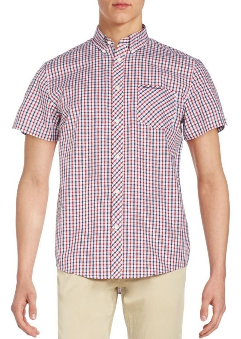 Ben Sherman Ben Sherman Short Sleeve Plaid Shirt Casual
