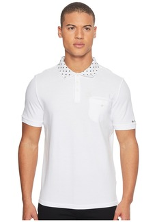 Ben Sherman Short Sleeve Target Print Collar Polo