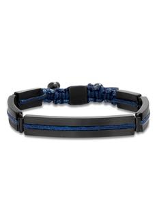 Ben Sherman Steel Cord Adjustable Bracelet
