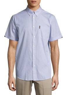 Ben Sherman Striped Casual Button-Down Cotton Shirt