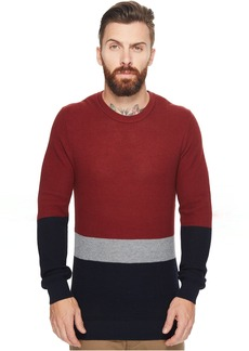 Ben Sherman Textured Color Block Crew Neck