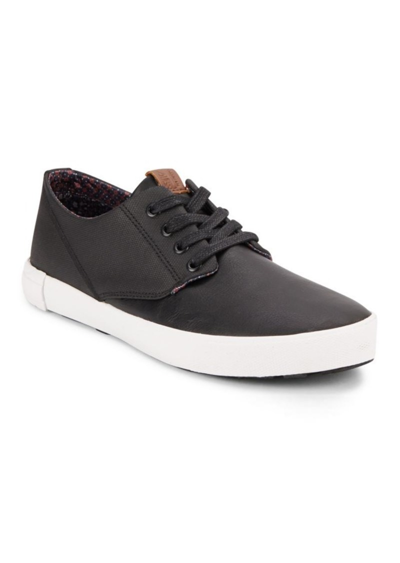Ben Sherman Textured Leather Lace-Up Sneakers