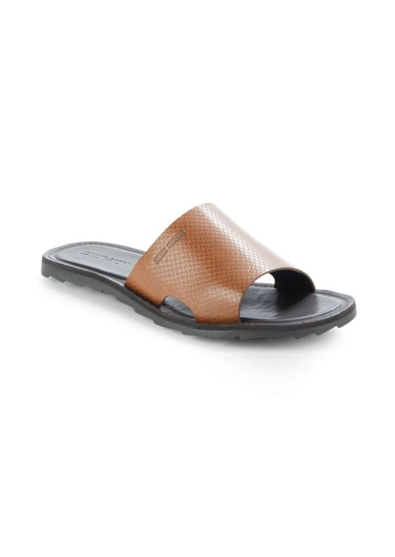 3516c6f161a Ben Sherman Ben Sherman Textured Leather Slide Sandals