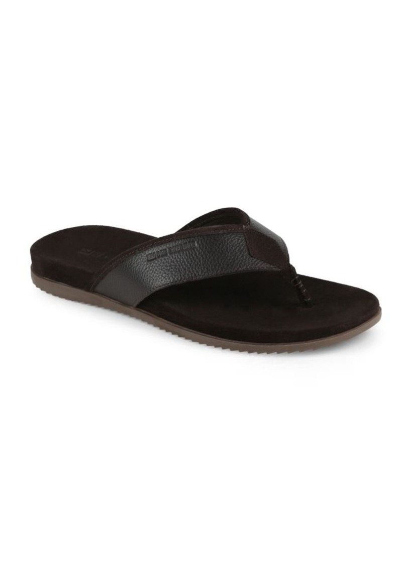 78333e391ff Ben Sherman Textured Leather Thong Sandals