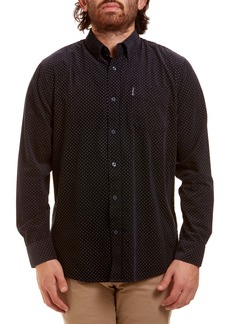 Ben Sherman Trim Fit Button-Down Corduroy Sport Shirt