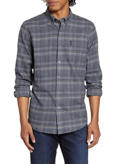 Ben Sherman Trim Fit Plaid Button-Down Flannel Shirt