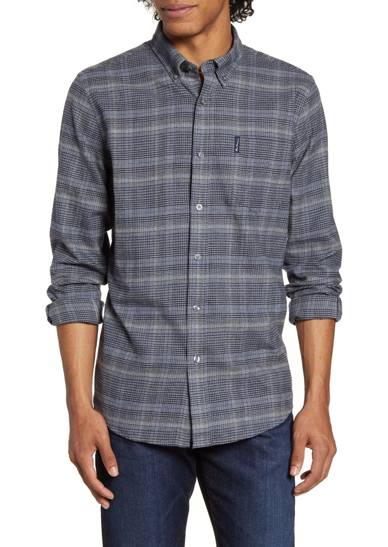 Ben Sherman Trim Fit Plaid Button-Down Flannel Shirt