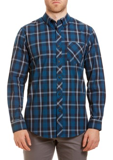 Ben Sherman Trim Fit Plaid Button-Down Sport Shirt