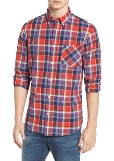 Ben Sherman Trim Fit Plaid Sport Shirt