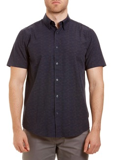 Ben Sherman Trim Fit Short Sleeve Button-Up Sport Shirt