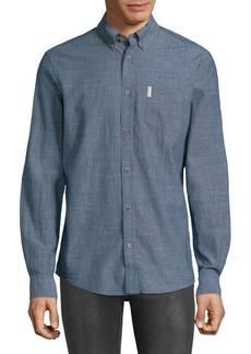 Ben Sherman Woven Cotton Button-Down Shirt