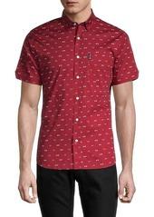 Ben Sherman Bicycle-Print Sharp-Fit Shirt