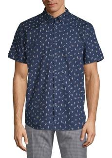 Ben Sherman Bird-Print Cotton Button-Down Shirt