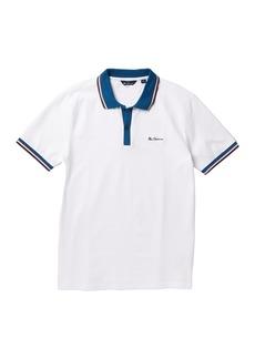 Ben Sherman Birdseye Placket Polo Standard Fit Shirt
