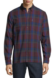 Ben Sherman Button-Front Brushed Crepe Check Shirt