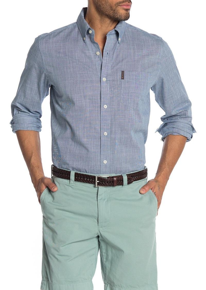 Ben Sherman Chambray Slub Long Sleeve Classic Fit Shirt