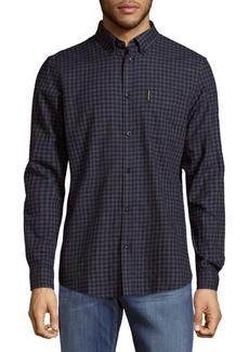 Ben Sherman Check Cotton Casual Button Down Shirt