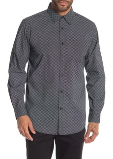 Ben Sherman Checkerboard Print Classic Fit Shirt