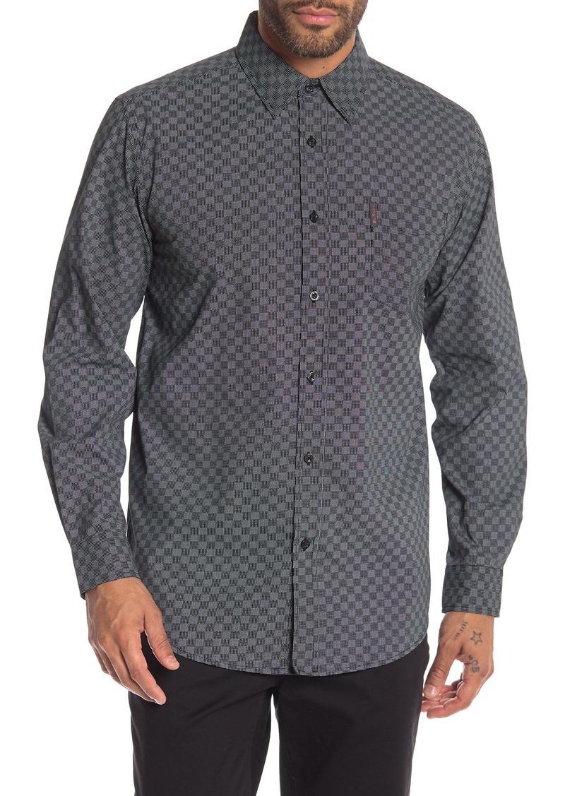 Ben Sherman Checkerboard Print Classic Fit Shirt