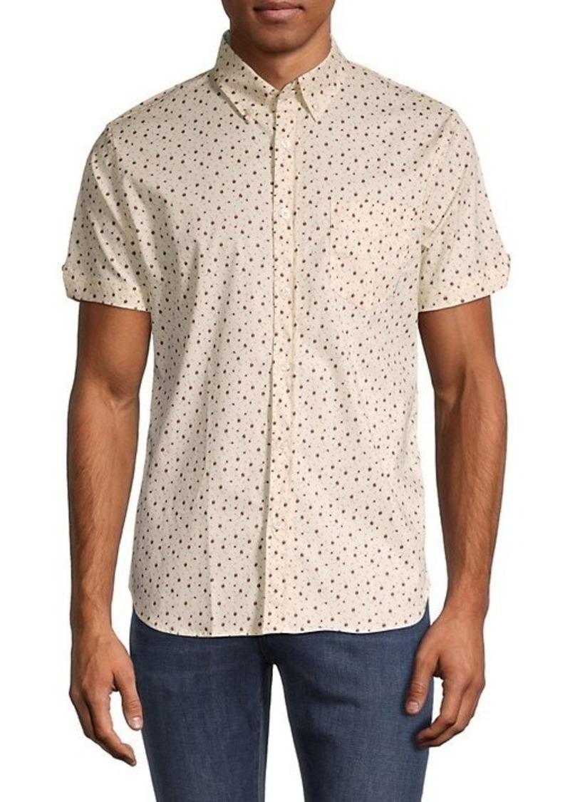 Ben Sherman Classic-Fit Dash-Print Shirt