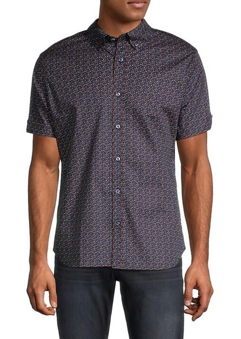 Ben Sherman Classic-Fit Dot-Print Shirt