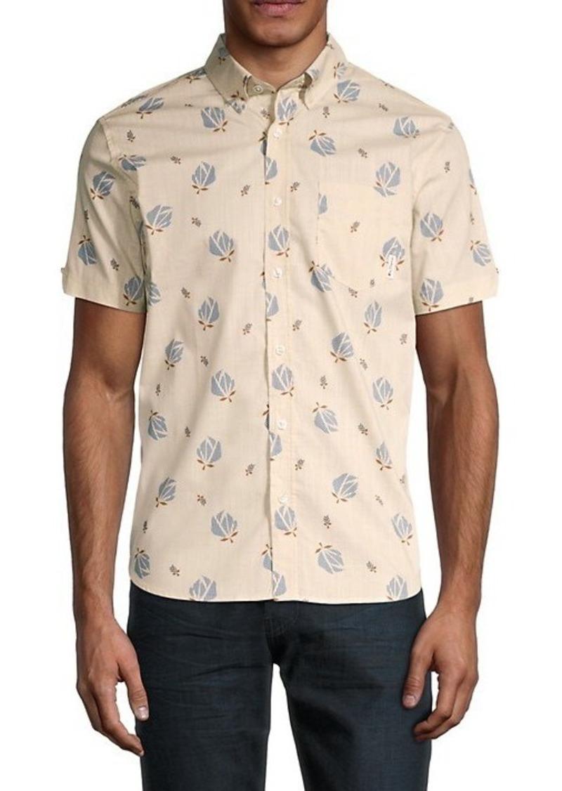 Ben Sherman Classic-Fit Floral Short-Sleeve Shirt