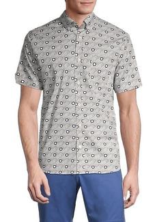 Ben Sherman Classic-Fit Geo-Print Shirt