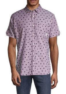Ben Sherman Classic-Fit Hat-Print Shirt