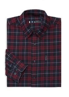 Ben Sherman Classic Plaid Dress Shirt