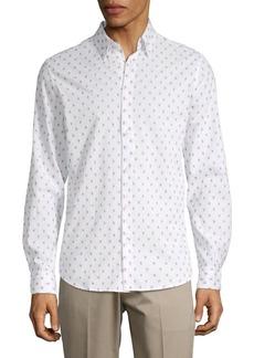 Ben Sherman Clipped Cotton Button-Down Shirt