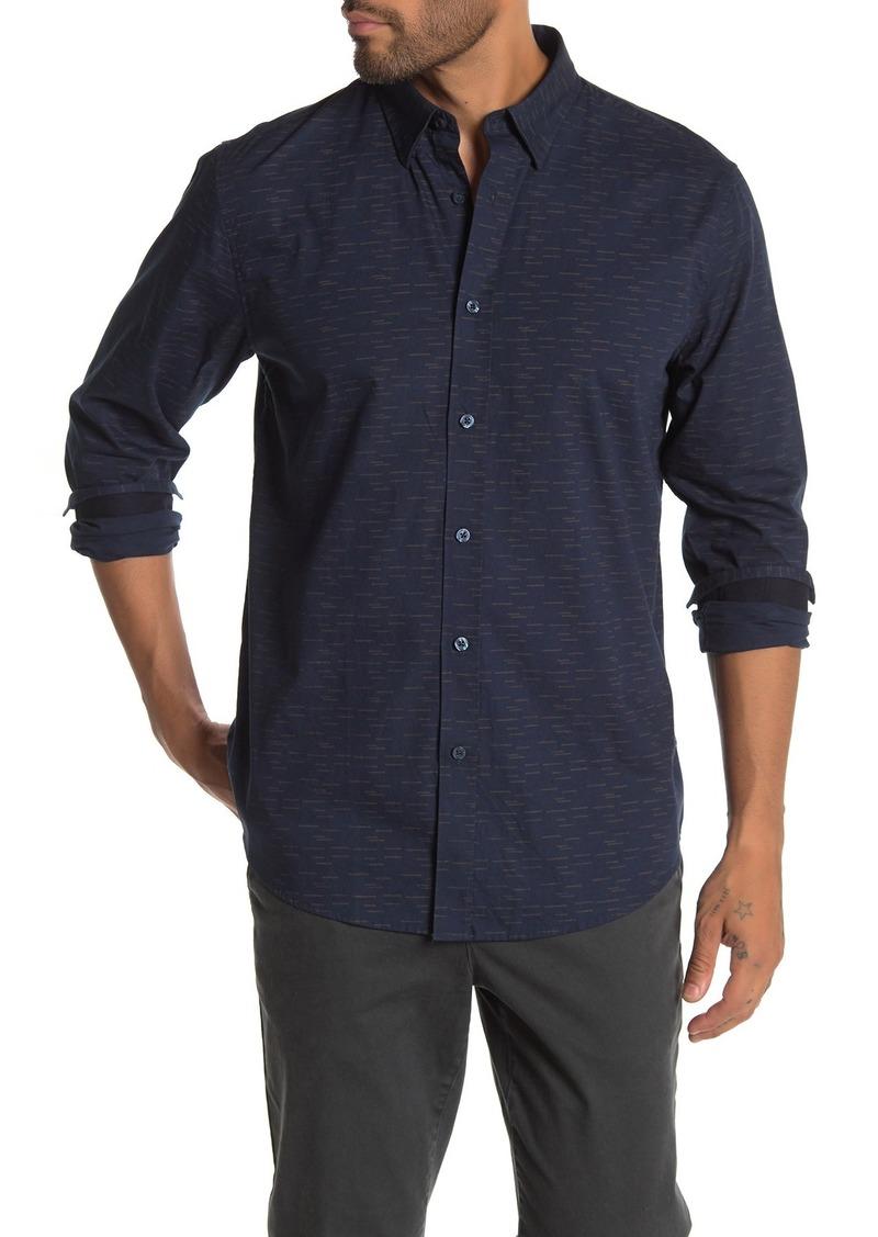 Ben Sherman Dashed Dot Print Classic Fit Shirt