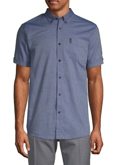 Ben Sherman Diamond Dobby Cotton Button-Down Shirt