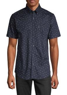 Ben Sherman Dot-Print Short-Sleeve Shirt