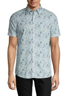 Ben Sherman Floral-Print Button-Down Shirt