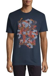 Ben Sherman Floral-Print Cotton Tee