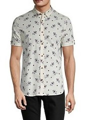 Ben Sherman Floral-Print Short-Sleeve Shirt